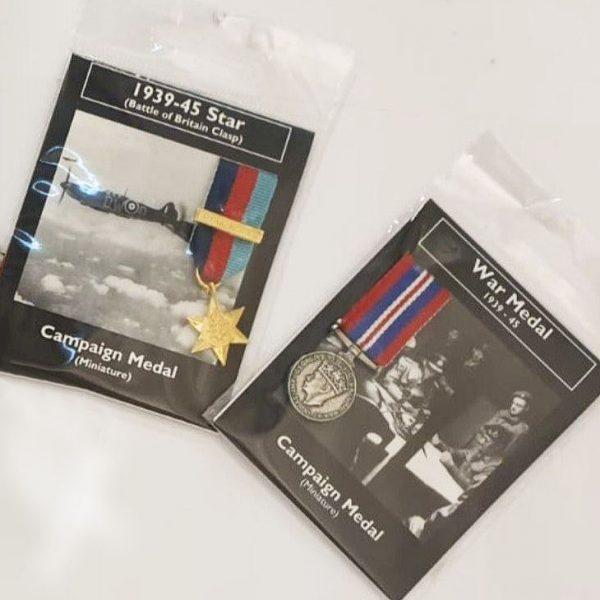 Two Second World War Miniature Medals
