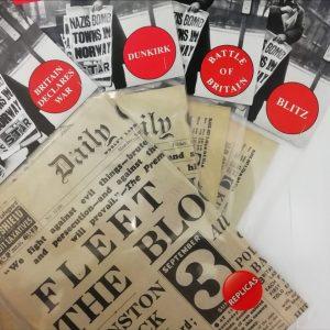 Four Second World War Replica Newspapers Bundle