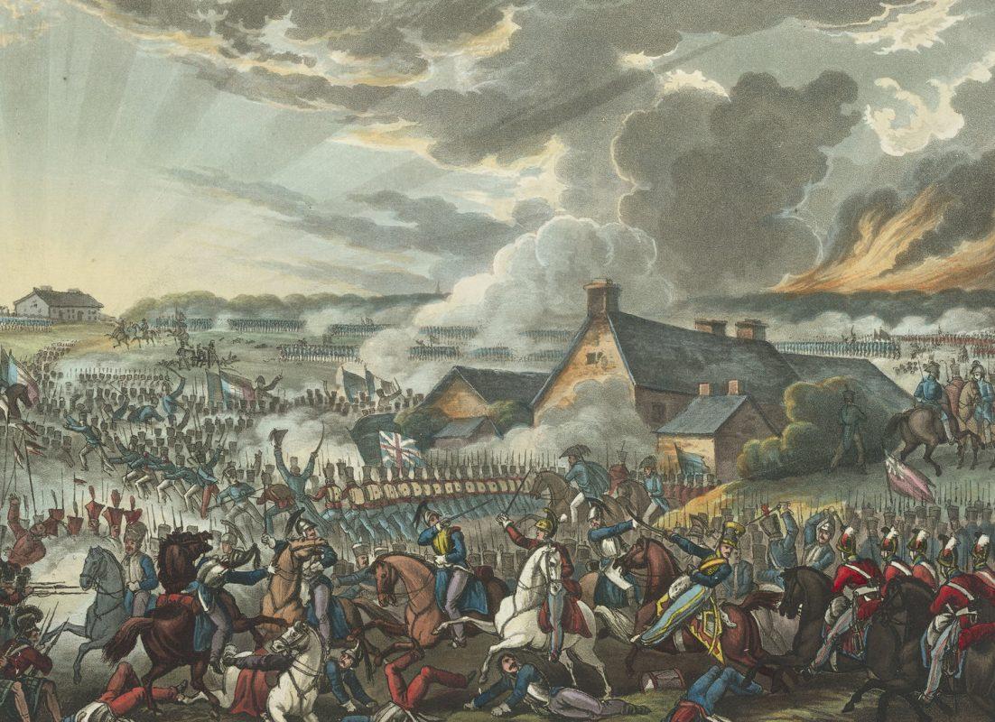 The Battle of Waterloo, June 18th 1815. Depicting Arthur Wellesley, the Duke of Wellington