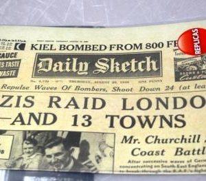 The Blitz Replica Newspaper