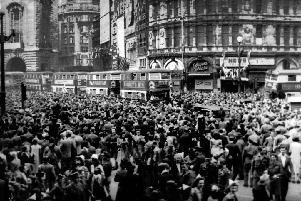 VE Day, May 08, 1945. Photo taken by Sgt. James A. Spence