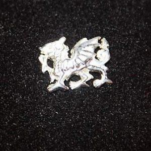 Silver Tone Dragon