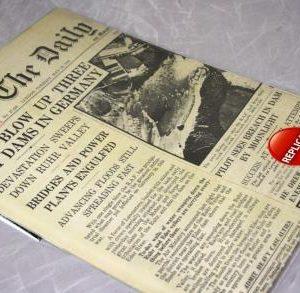 Dam Busters Replica Newspaper