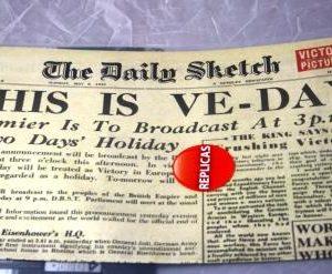 Victory In Europe Replica Newspaper