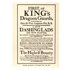 Kings Dragoon Guards-Recruiting Poster 1799